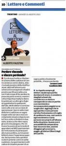 Lettera pubblica sul Trentino - 15 agosto 2013