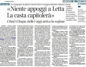 130921 intervista a Crimi _ Corriere del Trentino