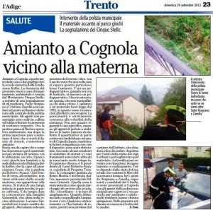 0929_Amianto Cognola_La segnalazione dei Cinquestelle