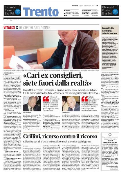 Il Trentino 15/11/2014