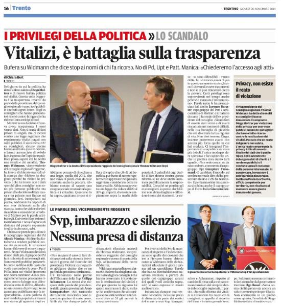 Il Trentino 20/11/2014