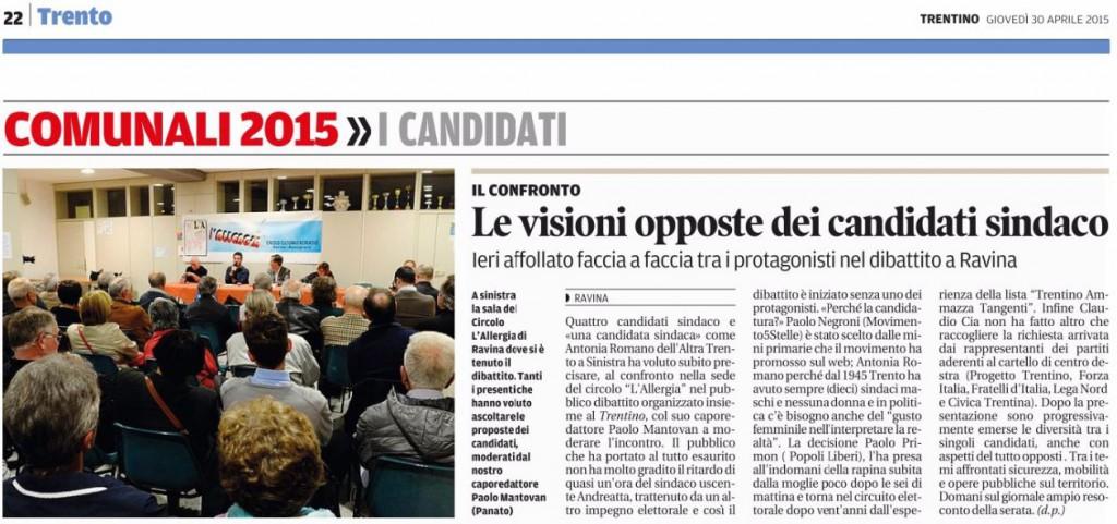 IlTrentino-20150430- Confronto candidati sindaco a Ravina