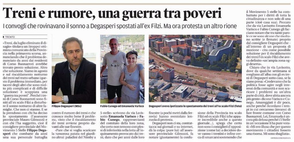 Articolo Trentino Treni Trento