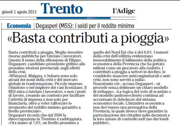 Read more about the article Tutela posto di lavoro, da PAT stop a contributi a pioggia