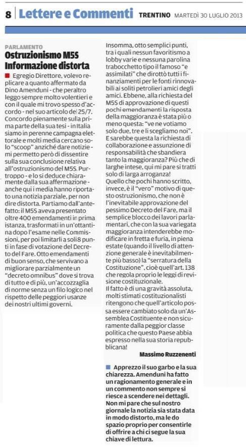 You are currently viewing Ostruzionismo M5S: informazione distorta