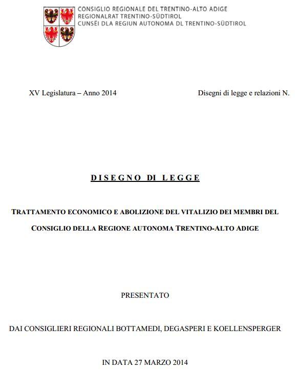 Read more about the article Conferenza stampa del 27 Marzo 2014 disegno di legge antivitalizi e riduzione delle indennità