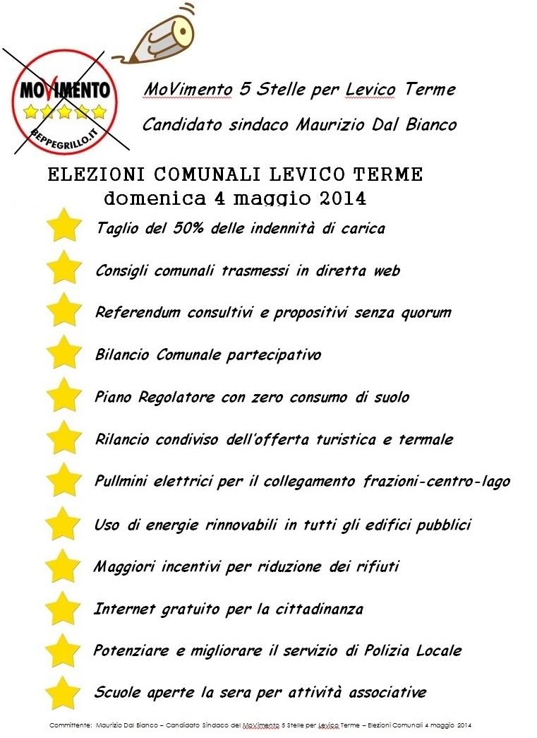 You are currently viewing Programma M5S per elezioni comunali di Levico Terme