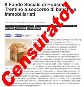 Read more about the article Il Fondo Sociale di Housing Trentino a soccorso di banche e immobiliaristi