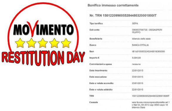 You are currently viewing Il quarto Restitution day del portavoce Filippo Degasperi