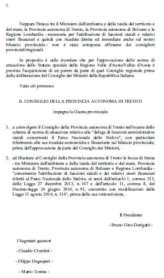 Read more about the article Parco dello Stelvio: la Giunta firma l'accordo senza passare per il Consiglio