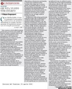 Read more about the article Caso Mediocredito, il vuoto strategico della giunta provinciale è palese