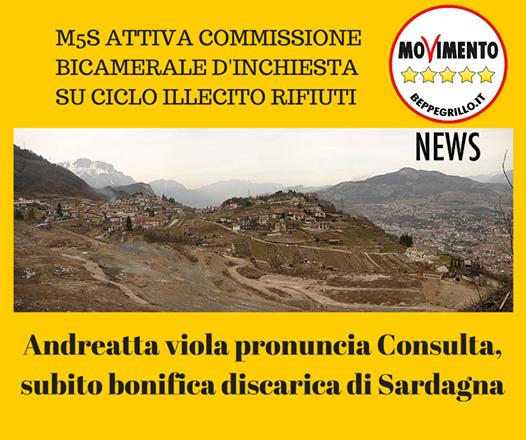 Discarica Sardagna: Vignaroli scrive ad Andreatta perché chiarisca come intende operare.