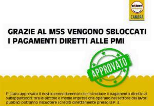 You are currently viewing Appalti. Fraccaro (M5S): Approvato nostro emendamento per pagamento diretto a piccole imprese ed estensione competenze province autonome