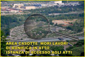 M5S Mori: Chiesta istanza di accesso agli atti su lavori di bonifica area «Casotte»