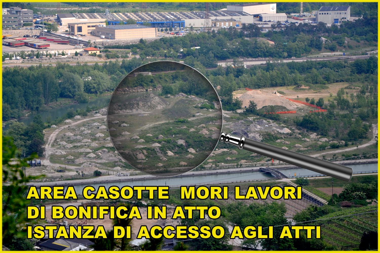 You are currently viewing M5S Mori: Chiesta istanza di accesso agli atti su lavori di bonifica area «Casotte»