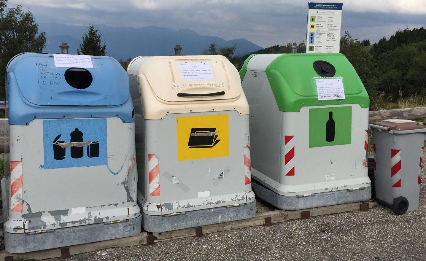 You are currently viewing Campane rifiuti in Bondone: in eliminazione?