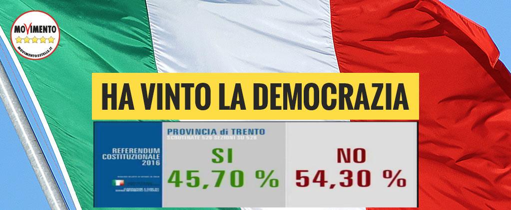 Italiani e trentini dicono no a renzi: costituzione e autonomia salve