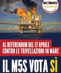 Volantino M5S Referendum Trivelle