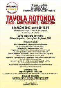 """Read more about the article Tavola Rotonda """"fisco, contribuente, giustizia"""" Trento, 6 maggio 2017"""