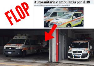 """""""Nuovissimi"""" automezzi per il 118 a Pergine: un flop"""