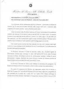 Read more about the article Licenziamenti Sait: la risposta del Governo rivela atteggiamento ambiguo della Provincia
