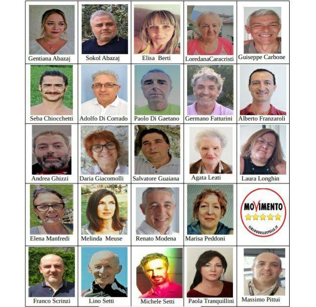 Candidati di lista M5S per elezioni comunali di Rovereto 2020